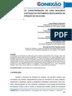 17 Lodo Biológico Caracterização de Lodo Biológico Gerado Em Uma Estação de Tratamento de Efluentes de Indústria de Extração de Celulose. Pág. 156 161