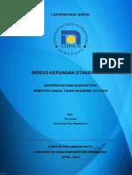 Indeks Kepuasan Stakeholder Gjl 17 18