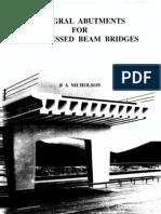 Integral Abutments for Prestressed Beam bridges