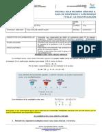 Guía de refuerzo matemática 4°