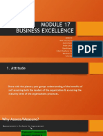 Group 3 ~ Module 17 - Business Excellence