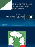 Pengantar Ilmu Komunikasi Pertemuan 2-3 definisi Birowo
