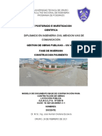 PROYECTO  FINAL DE GESTION DE OBRAS PUBLICAS