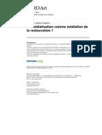 Reille, G. Médiatisation de la restauration. 2010