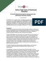 VVAA. Carta Patrimonio Industrial. 2003
