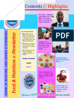 Food & Nutrition Newsletter Vol. 1 Issue 3, Hawassa University