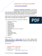 Renewable and Sustainable Energy an International Journal RSEJ