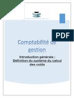 Comptabilité de Gestion_Introduction