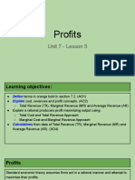 unit 7 - lesson 5 - profits