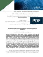 COMPETÊNCIA EM INFORMAÇÃO COMO CATEGORIA DE ANÁLISE ÉTICO-POLÍTICA DA DESIGUALDADE SOCIAL