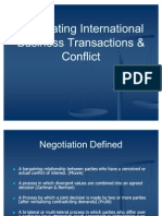 Negotiating International Business