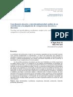 Coordinación docente e interdisciplinariedad análisis de su contribución a la adquisición de competencias docentes y discentes