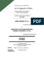 Magda v. Greater Cleveland Regional Transit Auth., 2009-Ohio-6219