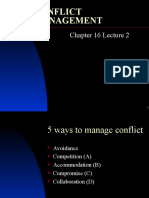 Chapter16 Lecture 2 Conflict Management