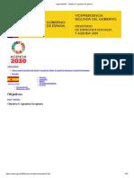 Agenda2030 - Objetivo 5. Igualdad de género