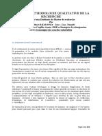 Cours de Methodologie Qualitative de La Recherche-1