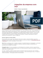 Home office - obrigações da empresa com saúde e segurança