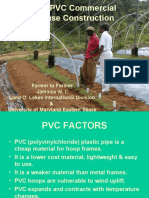 Low Cost PVC Commercial Greenhouse Construction 1