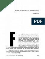 sugestão de leitura THOMAS MANN _ UM CLÁSSICO DA MODERNIDADE