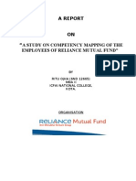 A STUDY ON COMPETENCY MAPPING OF THE EMPLOYEES OF RELIANCE MUTUAL FUND""