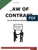 Law of Contract(English Variant) -- Mahmood Ahmed Khan