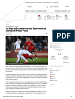 La Roja evita surpresa nos descontos na estreia de Pedro Porro __ zerozero.pt