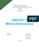 Unidad2; Milicia Bolivariana.