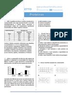 lista de questões sobre proteinas