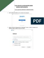 Manual de Uso de La Aplicación Zoom