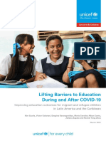 UNICEF Lifting Barriers to Education During and After COVID 19 in LAC