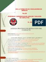 DIVERSIDAD Y DIFERENCIA EN EL ANÁLISIS Y SOLUCIÓN DE CONFLICTOS 2020