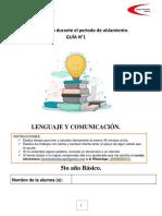 Guía n1 Lenguaje 5to básico 2021