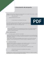 Estructura del documento de proyecto