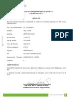 CertificadoDeAfiliacion COOSALUD JAVIER