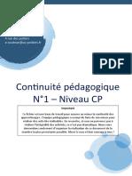 Continuité pédagogique N°1 - Niveau CP