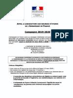 Bourses Ambassade de France 2019