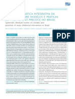 REVISÃO SISTEMÁTICA INTEGRATIVA DA LITERATURA SOBRE MODELOS E PRÁTICAS DE INTERVENÇÃO PRECOCE NO BRASIL