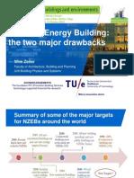 Net-Zero Energy Building, the two major drawbacks (Wim Zeiler)