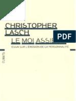 L'Homme Assiege - Christopher Lasch