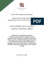 Pleno Jurisdiccional Nacional Laboral