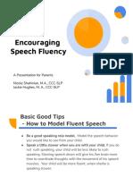 encouraging speech fluency a presentation for parents
