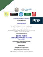 Gender Studies Conference. Spiru Haret. June 2011
