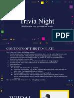 Trivia Night by Slidesgo