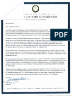 Noem Letter To Lawmakers On HB 1217