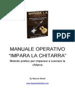 MANUALE OPERATIVO IMPARA LA CHITARRA