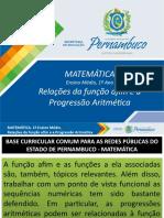 Relações da função afim e a Progressão Aritmética