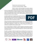 Declaración FODEP Sobre Retorno Presencial