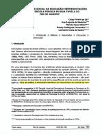 Sá, C. P. et al. (1990). Contracontrole social na educação_ Representações sociais da escola pública em uma favela do Rio de Janeiro