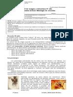 Guía n°2 Repaso para 8° - Mitologia - Red diagnóstica
