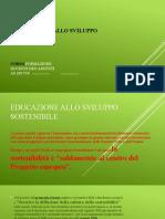 Educazione allo Sviluppo Sostenibile lez1